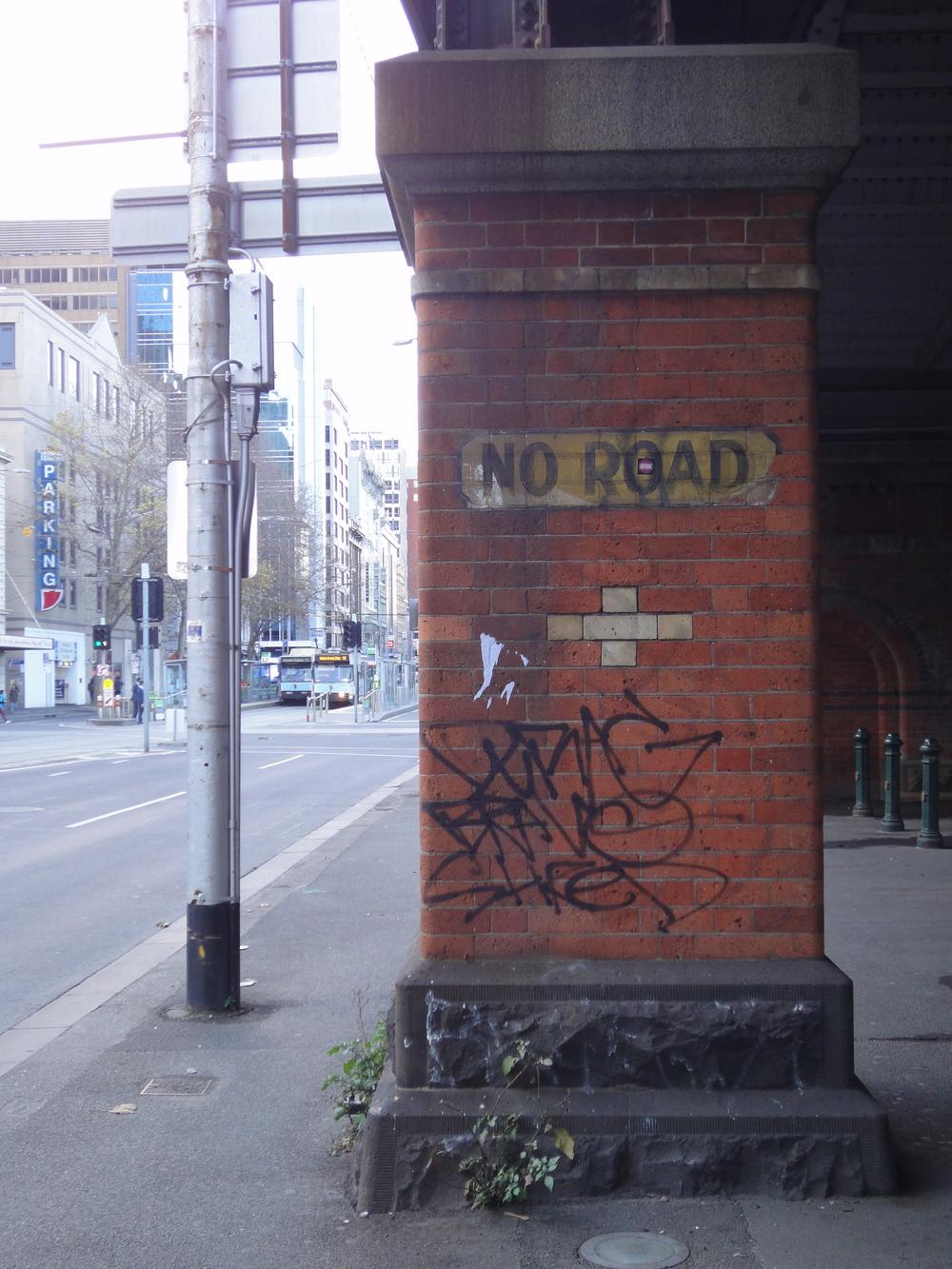 A street sign found near QueensbridgeStreet in Melbourne's CBD