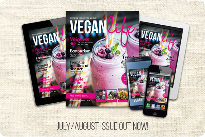 vegan life magazine food