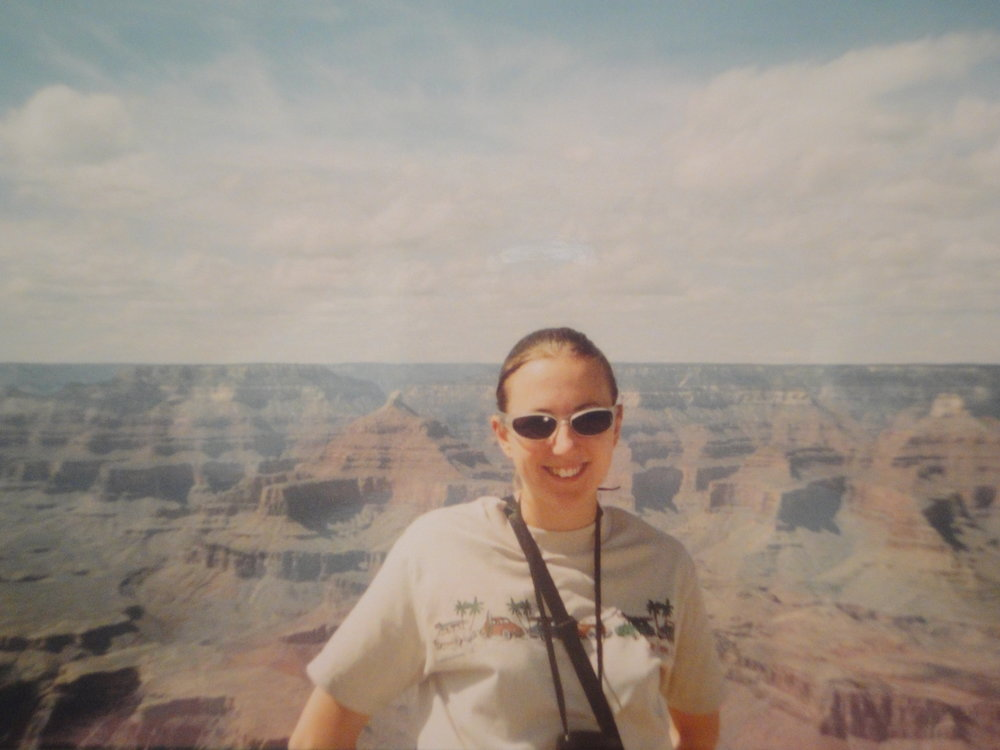 Me checking out the mighty expanse of The Grand Canyon in Arizona.