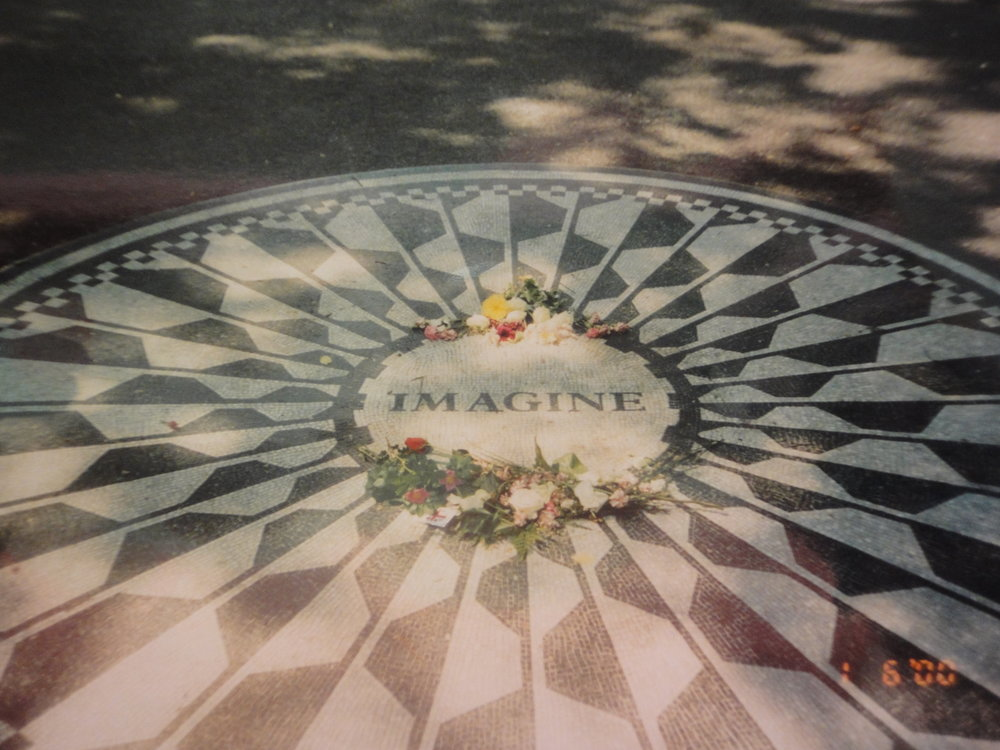 John Lennon was right with one word. Taken in Strawberry Fields in Central Park, New York.