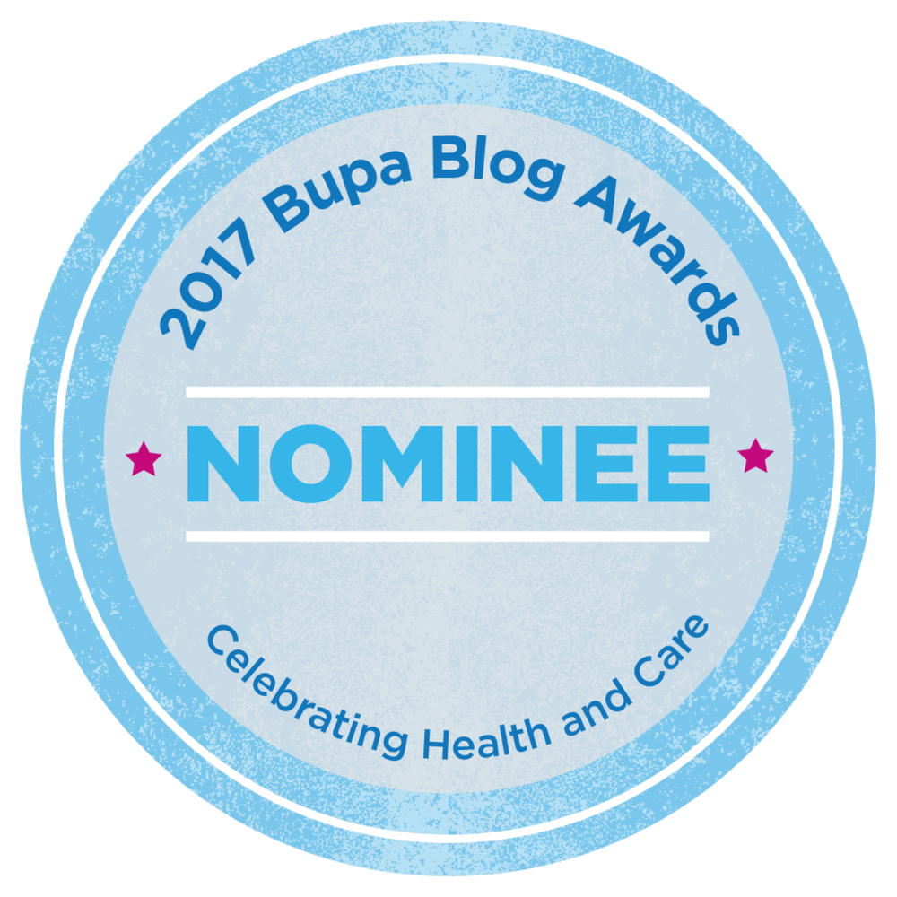 Fire & Tea has been nominated for a 2017 Bupa Blog Award in the Lifestyle category. Yay!