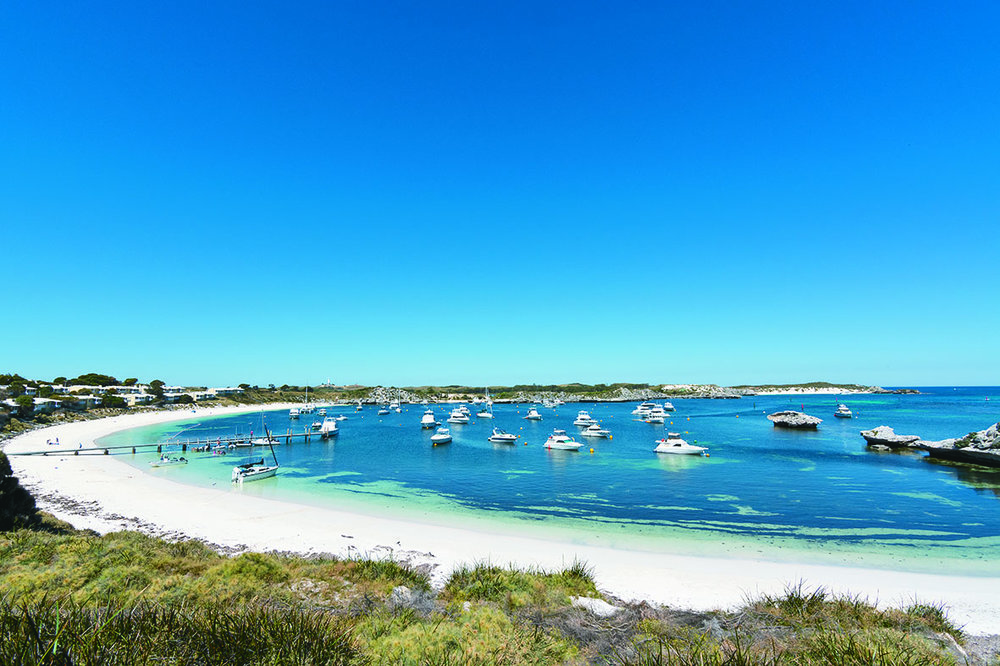 Geordie Bay at Rottnest Island. Photo courtesy of Rottnest Island.