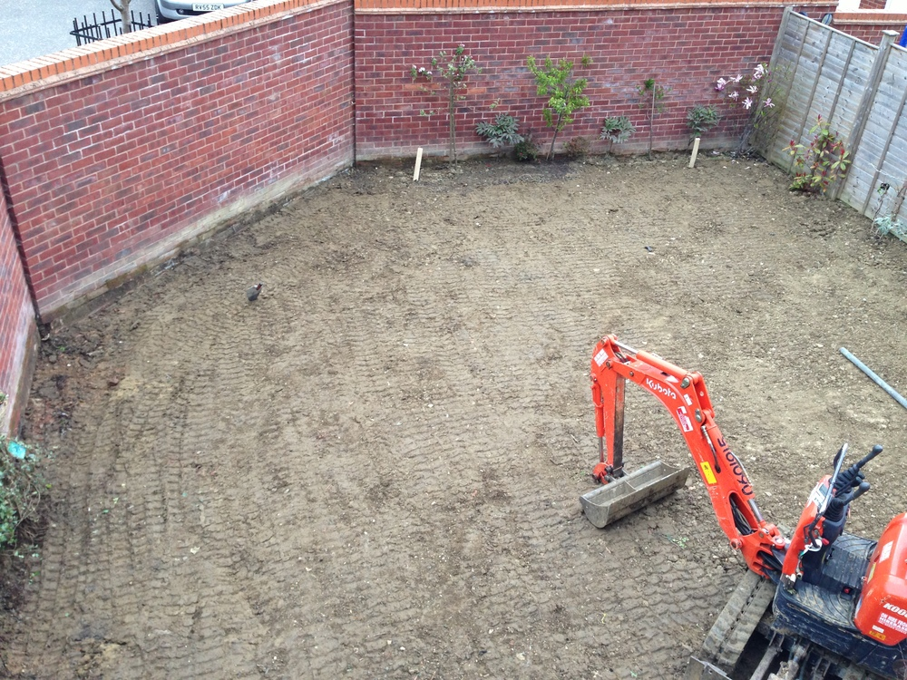 Day 3 digger in and ground leveled