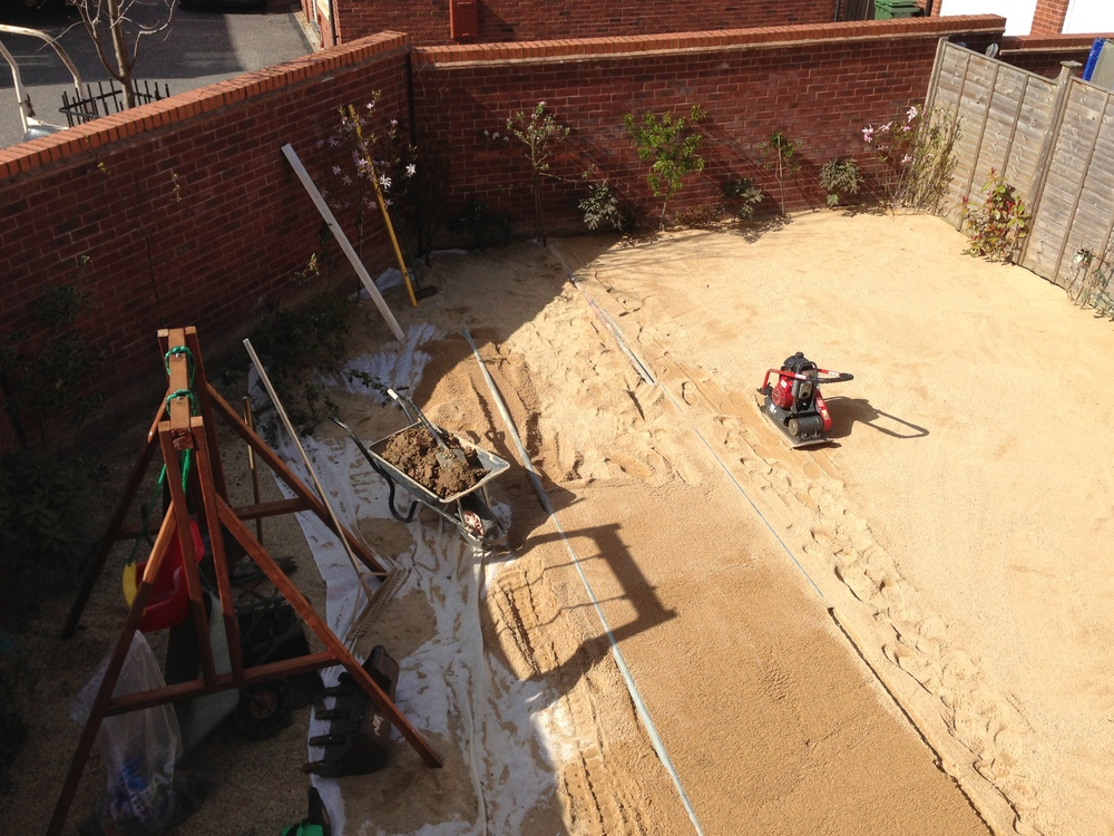 Day 4 - Additional 4 tons of sand