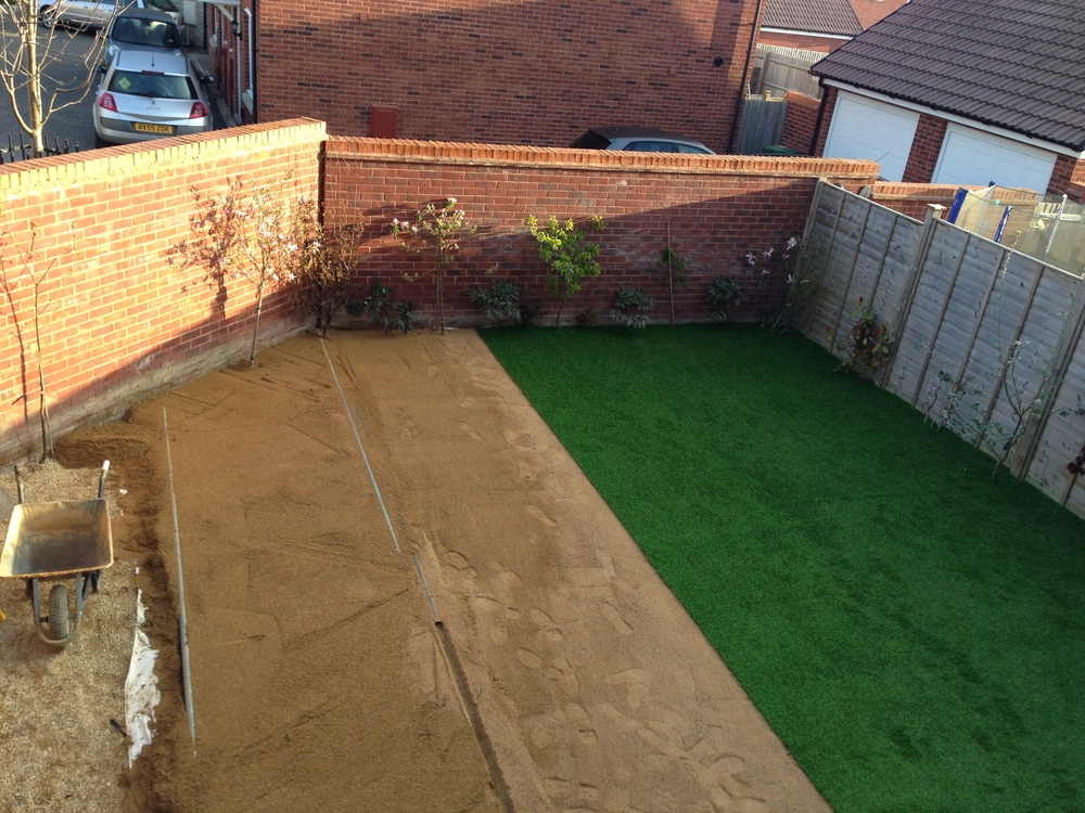 Day 4 - First turf added!