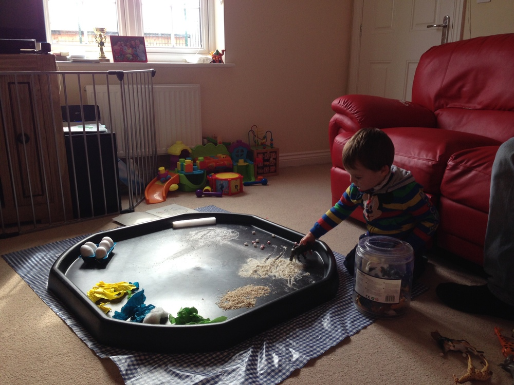 Messy play all set up