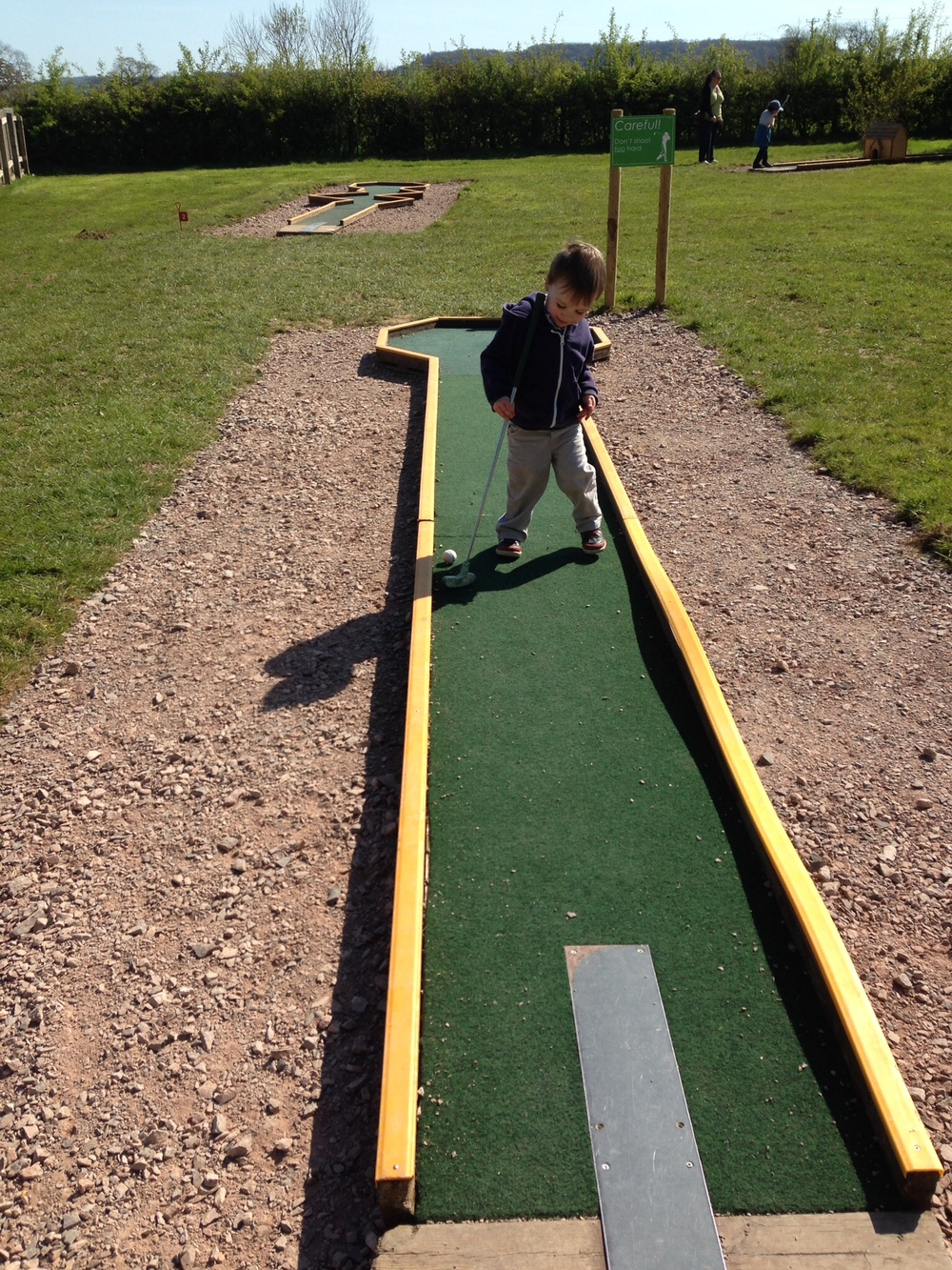 Mini-golf at Cattle Country