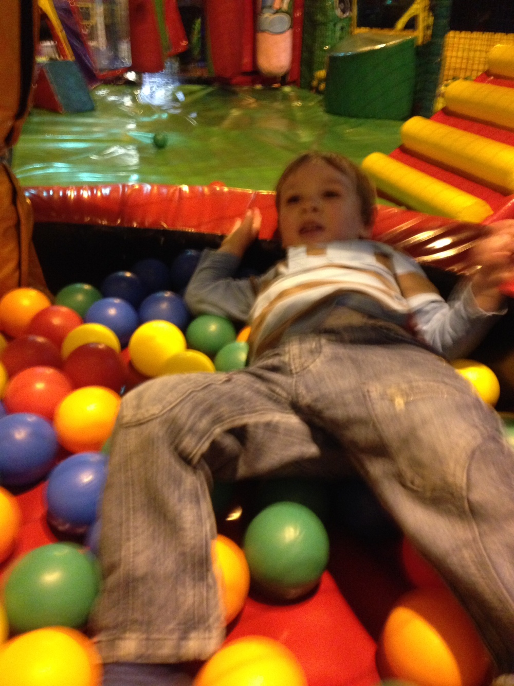 Loving the ball pit
