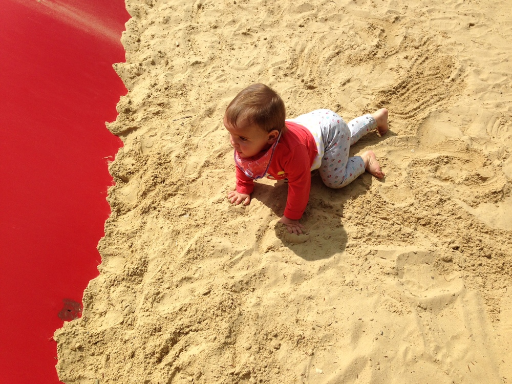 Messing around in the sand