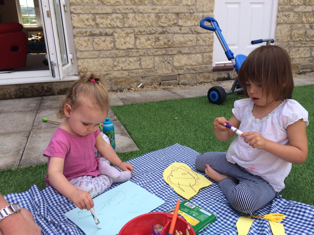 Arts and crafts in the garden