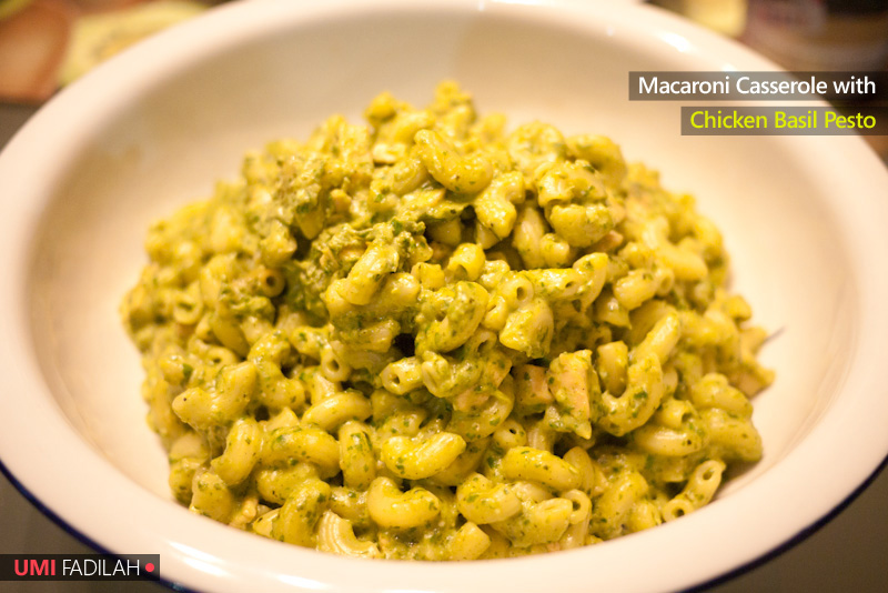 COOK: Macaroni Casserole with Chicken Basil Pesto