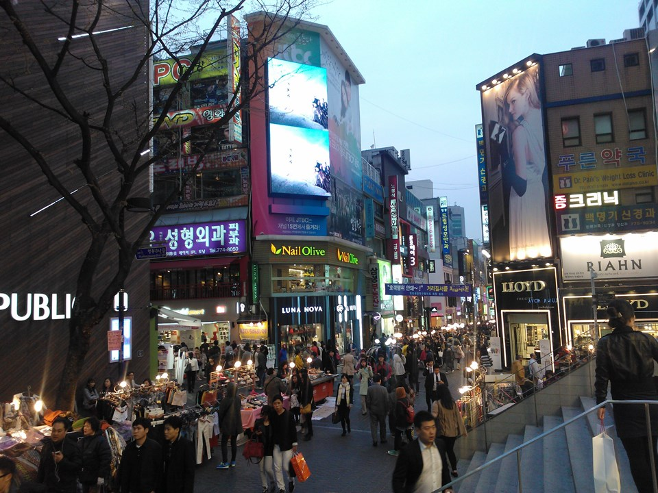 Myeongdong, one of the primary shopping districts