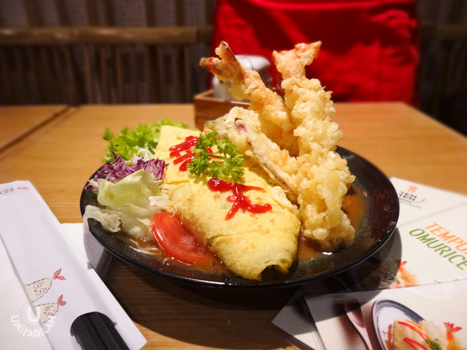 Our magnificent Tempura Omurice creation. Looks very appetizing, no?