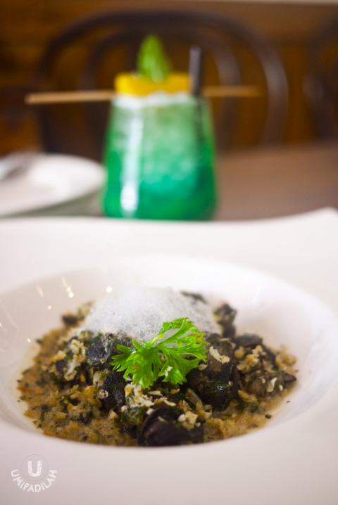 Escargot (IDR 53.000)  - Gremolatta, garlic, herbs butter, crumbs