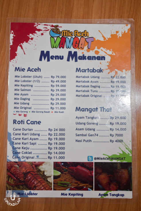 Menu 1 (click to zoom)