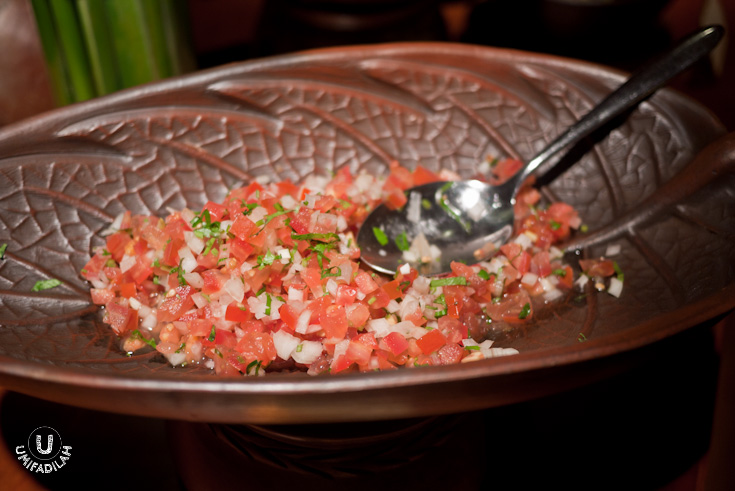 Pico de gallo, also known as salsa fresca (fresh salsa)/salsa Mexicana