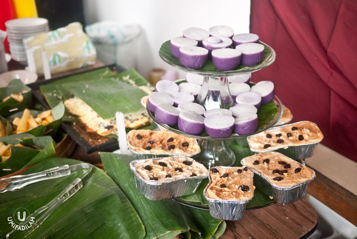 Kue Talam using purple yam, and Klappertart Kenari