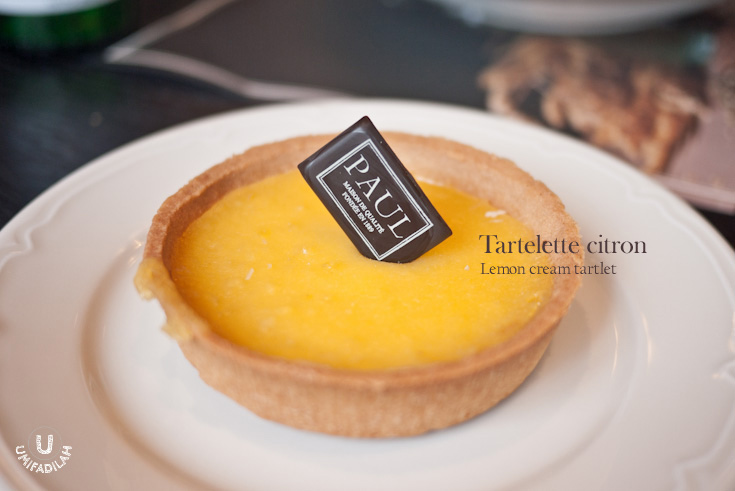 Lemon cream tartlet (IDR 50k).    Good crust, and balanced flavor of the lemon custard.
