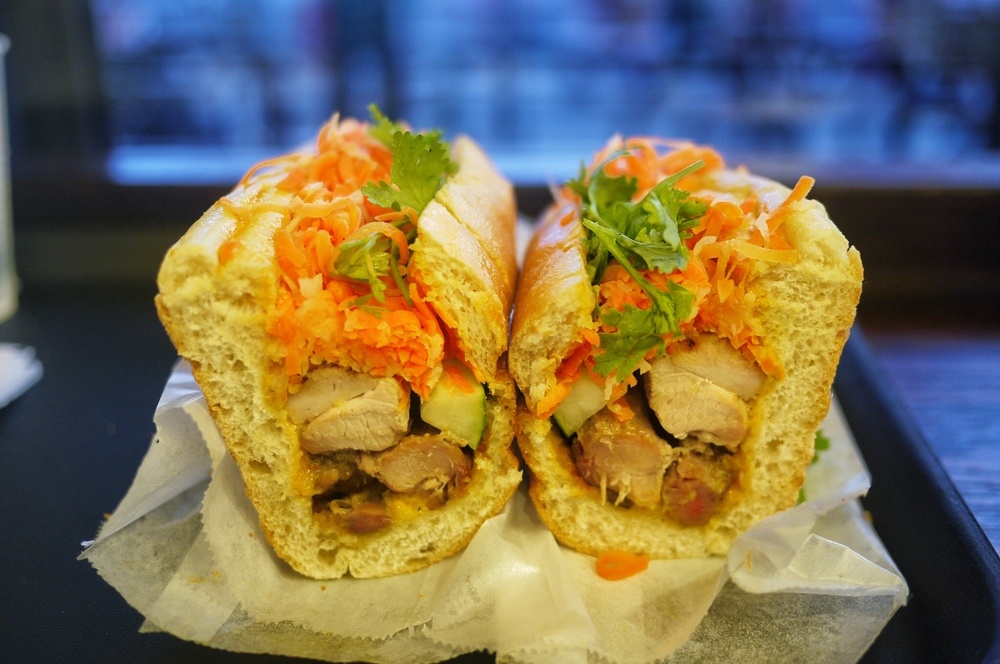 Lemongrass Chicken Banh Mi $4.99. The lemongrass marinated chicken thigh was generous and so tasty! The banh mi bun is also at its perfect texture, crunchy outside yet soft inside. It's everything I wished for, although I do hope they give more cilantro to it.