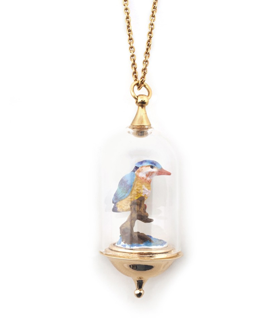 Kingfisher pendant - oh come on what's not to like?