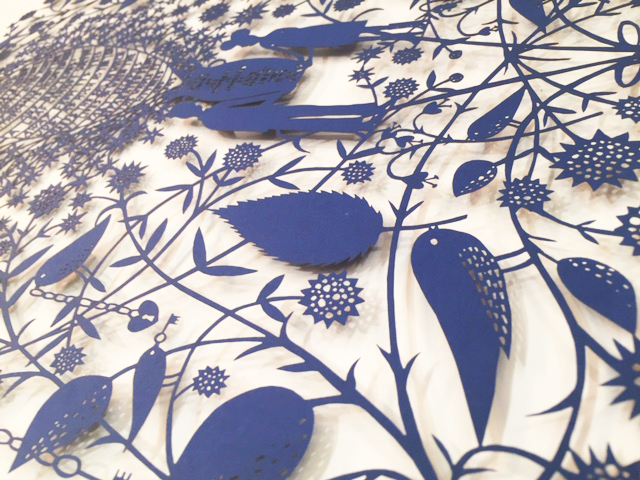 Rob Ryan  All framed paper-cuts are available online, please contact us at godeon@icloud.com and we will be in touch