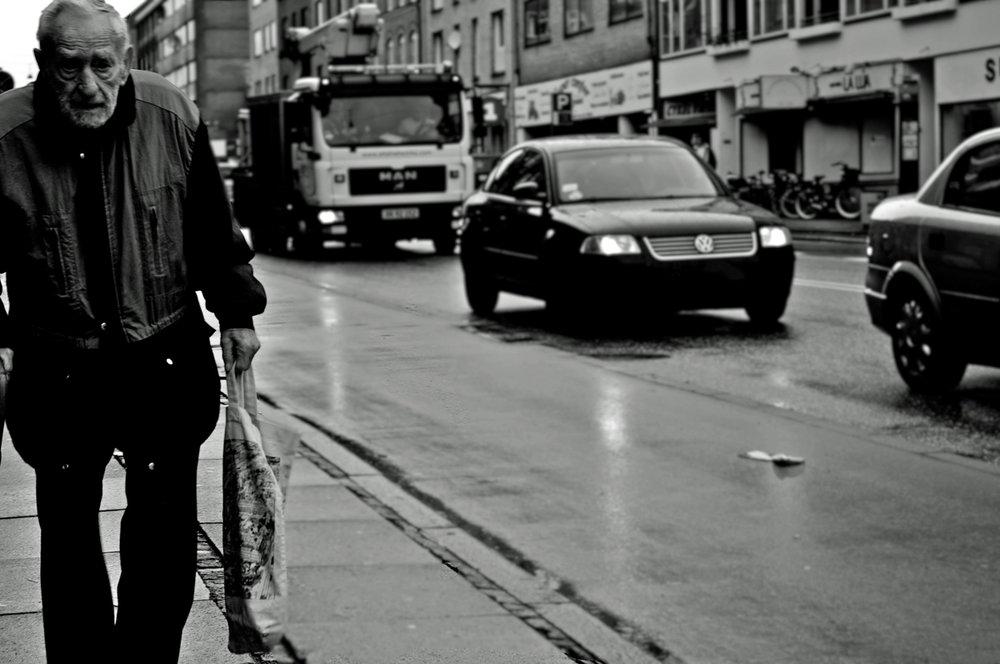 Cold December morning. Frederikssundsvej Copenhagen. 2012