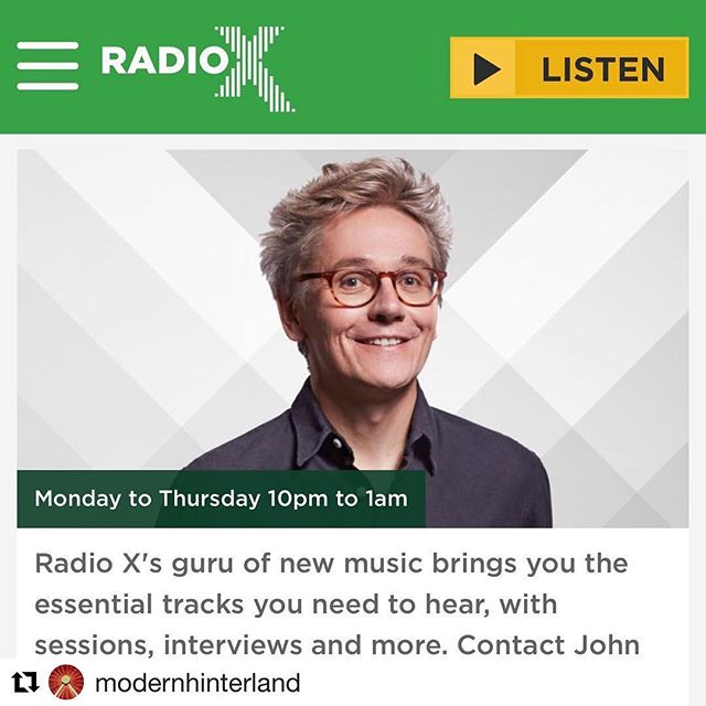 #Repost @modernhinterland with @get_repost ・・・ Listen back to our first spin on @radiox last night - thanks to #johnkennedy for the play! 👍✌️🤘 Check us out at about 1hr15 in #radiox #modernhinterland #takeyoutothehoppings