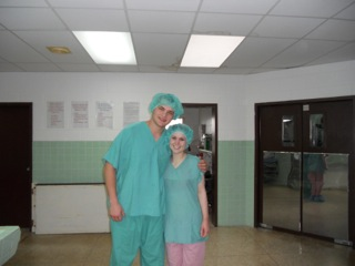 Kristen and Mike's First Scrub-In