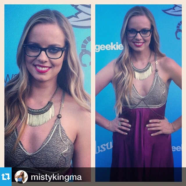 #Repost from @mistykingma with @repostapp, rocking our Chain dress at #Geekies2014. Available at the store! http://www.cosdayclothing.com/shop/chain-dress --- #PrincessLeia gown hosting red carpet interviews for #thegeekieawards 2014! #OOTD Courtesy of Leetal Platt