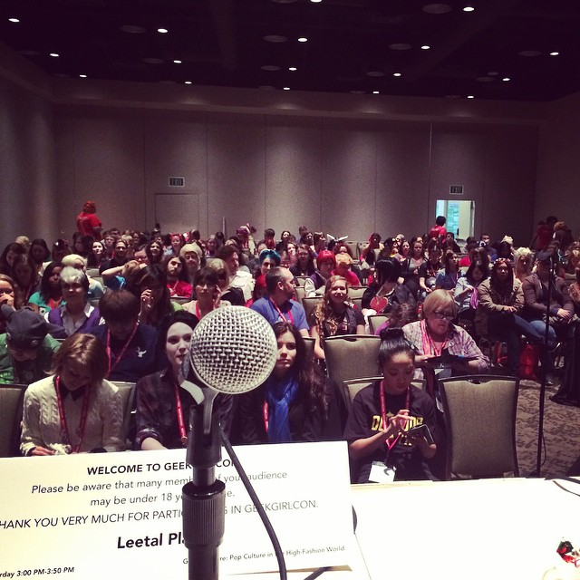 Look at that totally full room! #geekgirlcon #geekcouture