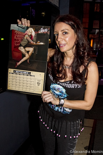 Miss Rebecca w/ Azarja's calendar