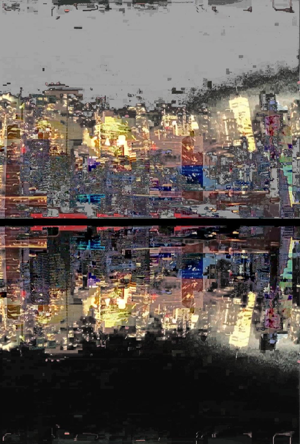 """Reflection, Photo Composite, Archival Pigment Print, 22""""x32.5"""""""