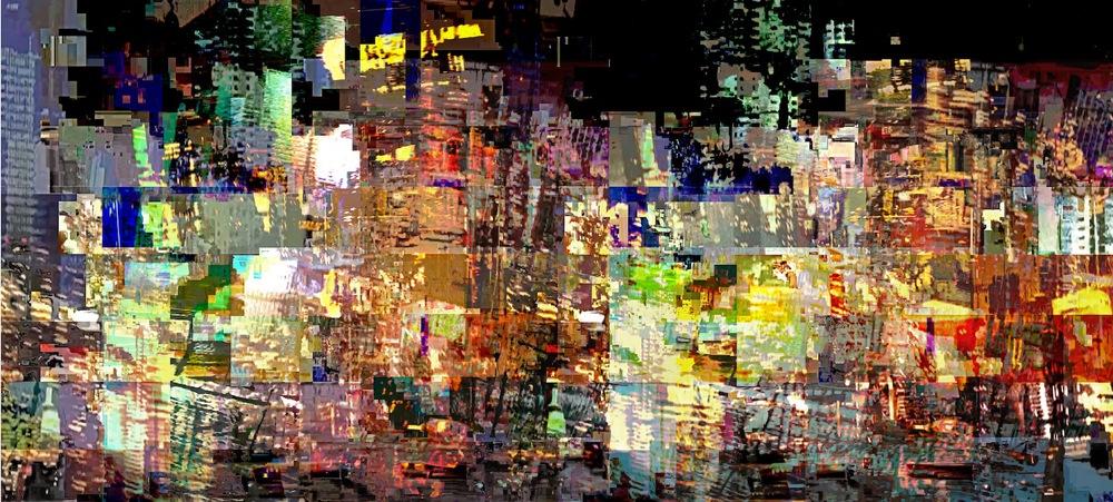 """Crash, Photo Composite, Archival Pigment Print, 20""""x44"""""""