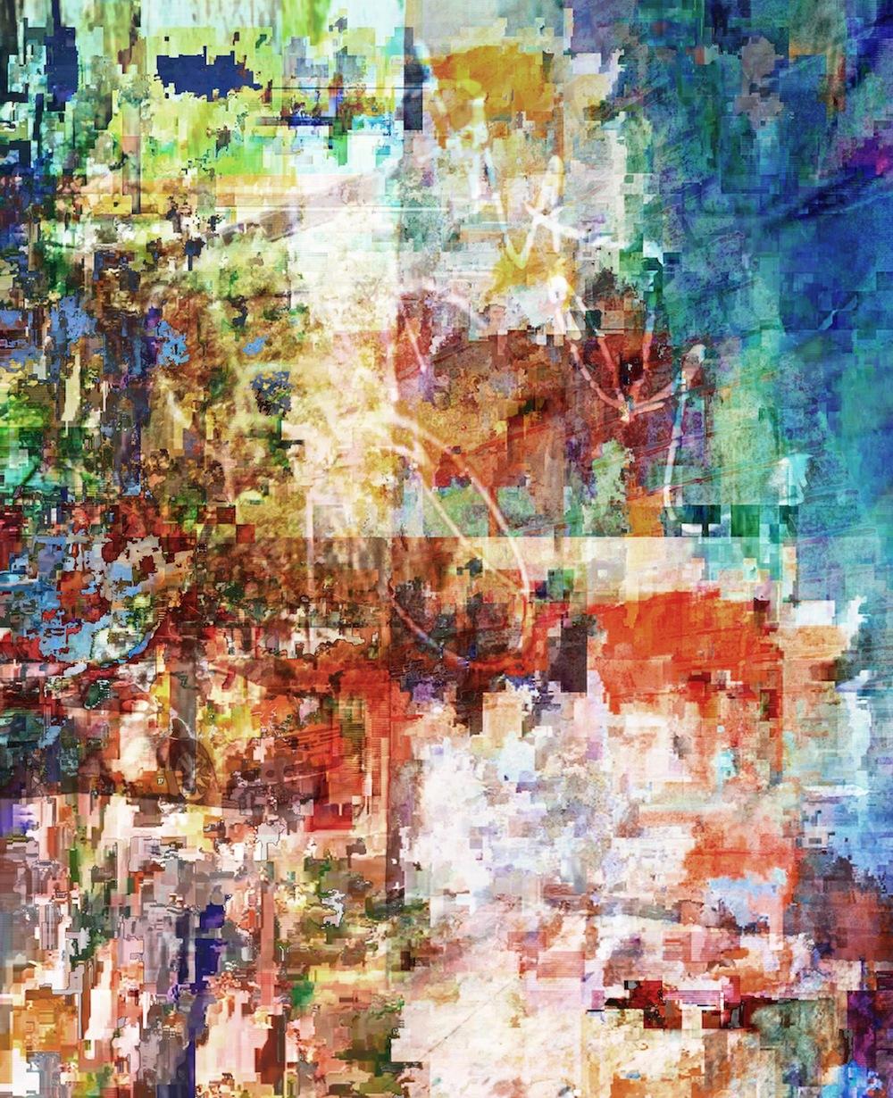 "Untitled Street, UV ink on acrylic, 20""x24"""