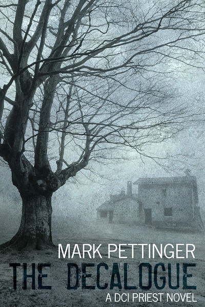 Thriller ebook cover for bestselling author Mark Pettinger. Mark's book The Decalogue featured in the top 100 bestsellers on the Amazon book charts.