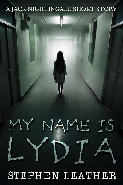 Horror premade book cover design for author Stephen Leather. My Name is Lydia was yet another no. 1 bestseller for this author.This horror design shows a little girl in an eerie hospital corridor.