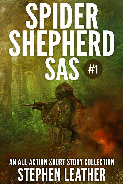 Our custom book cover design for bestselling author Stephen Leather. Featuring our custom book covers, novel is currently at No.1 in Amazon's bestsellers. Shows a soldier fighting in the war in Afghanistan. Cover shows camouflage, jungle elements and gunfire.