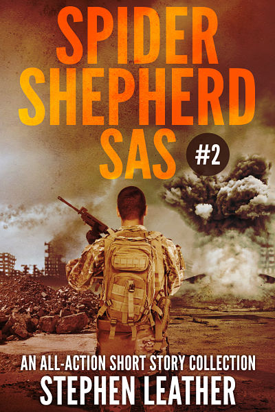 Our second custom book cover design for author Stephen Leather. Cover shows soldier fighting in the war in Afghanistan. Explosion and gun elements feature in this war scene. Books are currently numbers 1 & 2 in Amazon bestsellers.