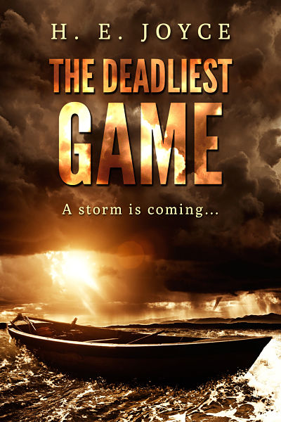 Indie author H.E. Joyce's premade thriller book cover design for his novel The Deadliest Game. We also design custom book covers for authors who are selfpublishing their work.