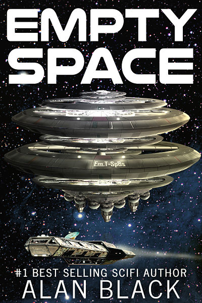 Best selling sci-fi author Alan Black has used a custom made graphic for his book cover. His latest novel Empty Space features a spaceship on his book cover design and background is a nebula in outer space. Published on Amazon for both Kindle and in print.