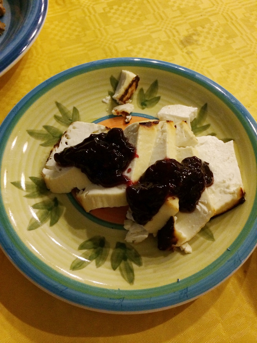 the amazing, divine baked ricotta with marmalade