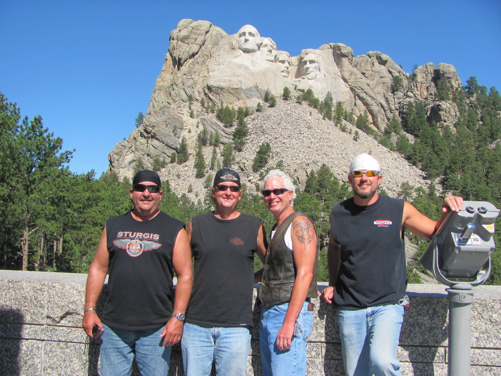Riding to Mount Rushmore