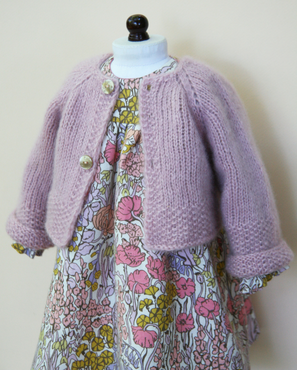 Liberty Of London cotton/wool dress and cashmere/silk cardigan