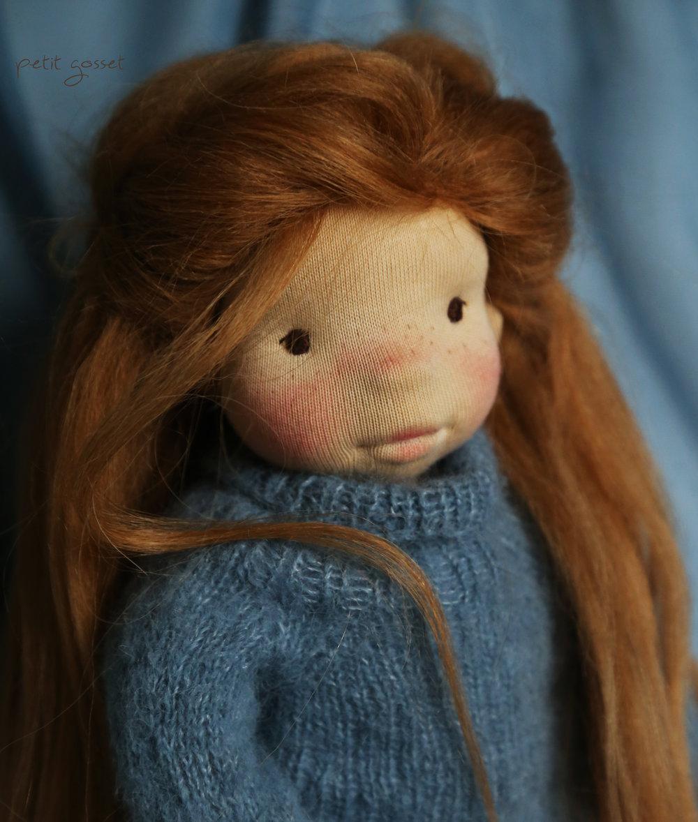 Dania - a natural fiber art doll