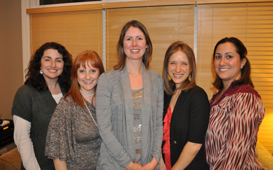 Left to Right:  Tracy Sloan, Karen Galway Fedoruk, Meghan Murphy, Amanda Markowski, Caryn Goodman