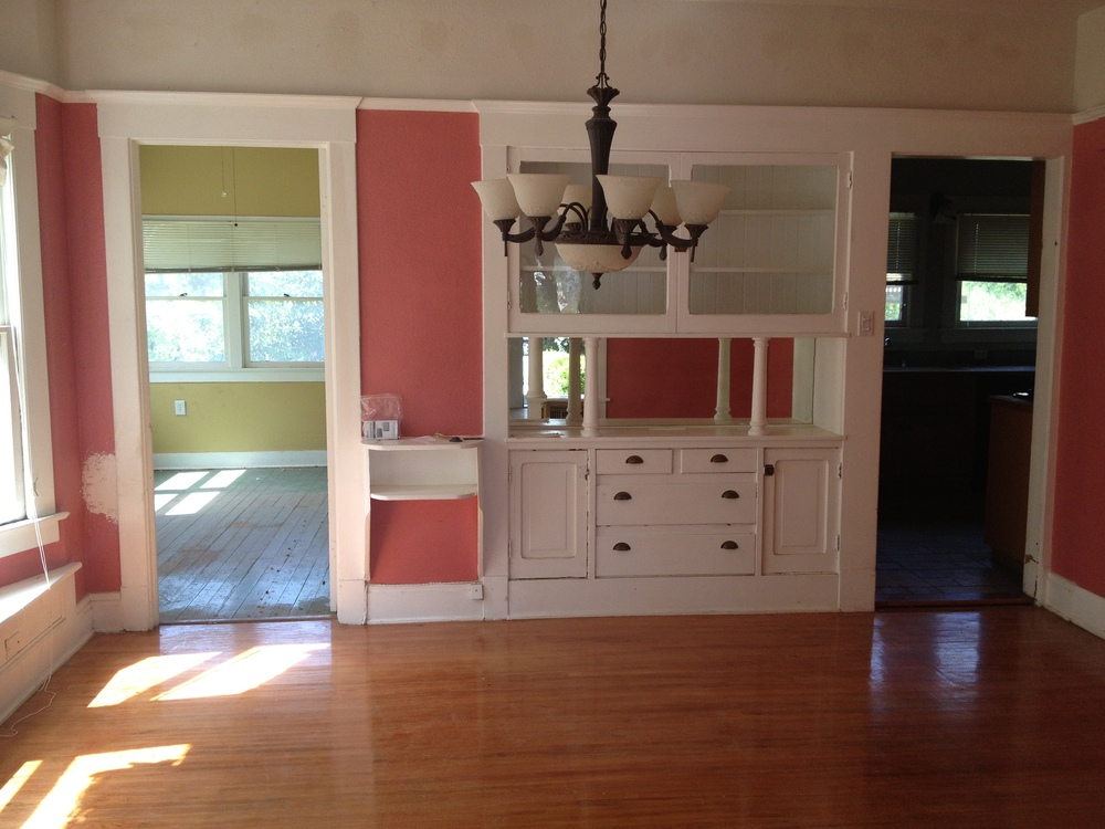 Before - the very pink dining room