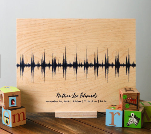Sound Wave Art : baby heart beat