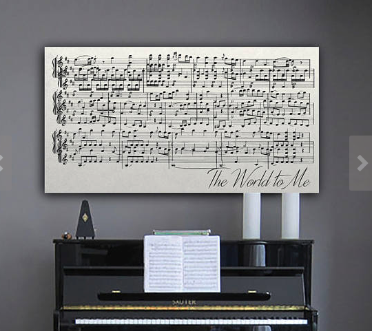 Framed music lyrics