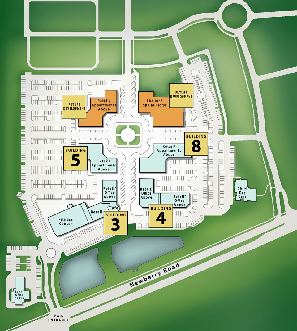 Tioga Town Center - Site Plan by Michael Gilfilen