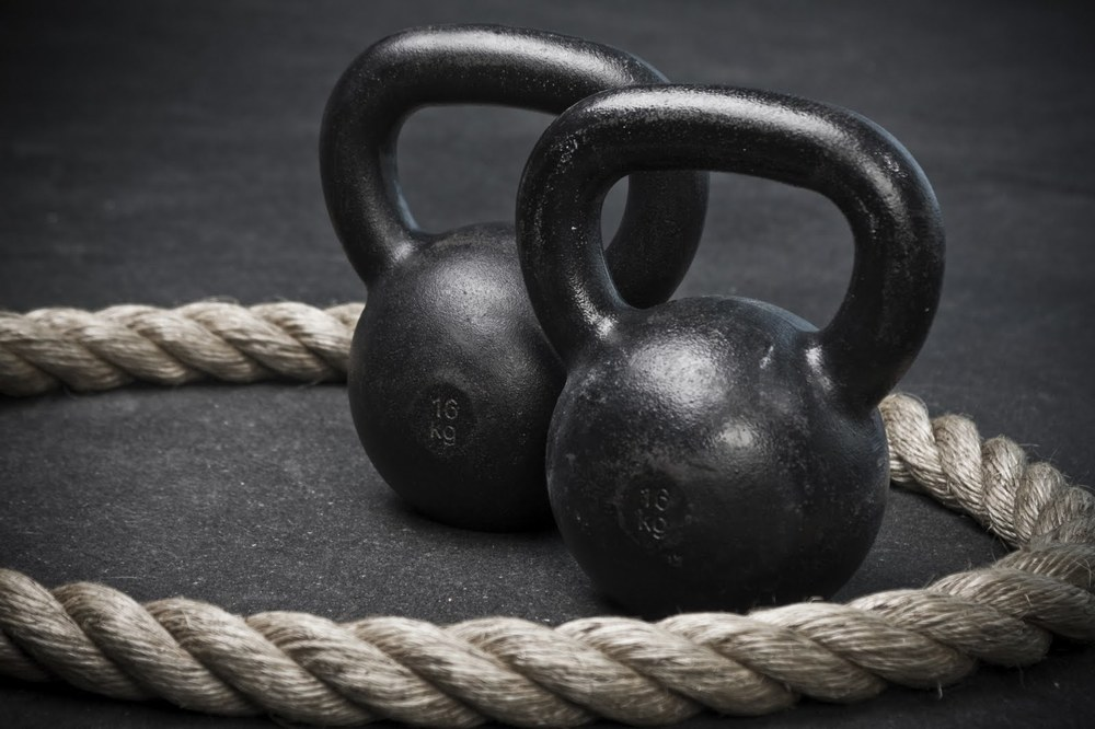 Intense Group Fitness Training Growing